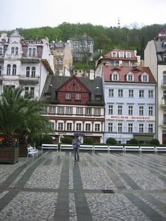 Spa city Karlovy Vary, located in the west of the Czech Republic.  ... something interesting to note - city is famous for its 13 main springs, another 300 smaller ones and warm-water river Tepla, as well as for being one of the sets for the James Bond movie Casino Royale.
