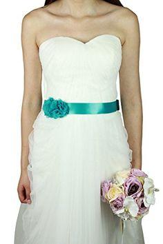 Lemandy bella due fiori di tulle di nozze nastro da sposa…