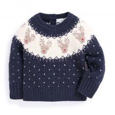 426faab4585 Reindeer Fair Isle Sweater Tejidos, Κροσέ, Χριστουγεννιάτικη Περίοδος,  Tricot, Τάρανδος