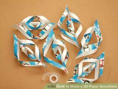 Image titled Make a 3D Paper Snowflake Step 8