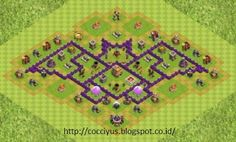 Kumpulan formasi coc th 7 terkuat, coc th 7 terbaik, coc th 7 war base, coc th 7 trophy base, coc th 7 farming base