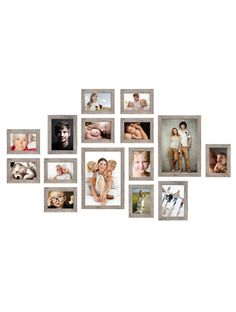 Photo Wall Decor, Family Wall Decor, Frame Wall Collage, Frames On Wall, Picture Wall, Picture Frames, Gallery Wall Layout, Photo Arrangements On Wall, Oak Color