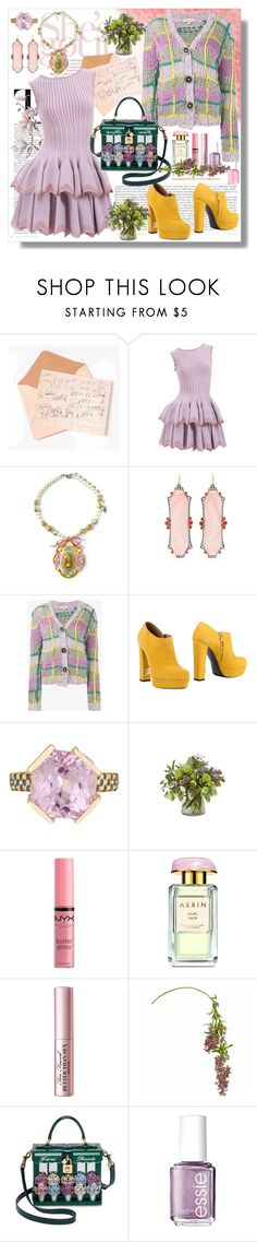 """Untitled #93"" by shewalksinsilence ❤ liked on Polyvore featuring Alaïa, Tarina Tarantino, Arman Sarkisyan, Natasha Zinko, R&Renzi, Maiko Nagayama, Jayson Home, NYX, AERIN and Too Faced Cosmetics"