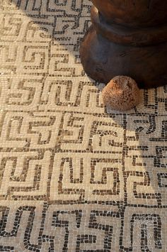 Kuba style mosaic by New Ravenna Handmade tiles can be colour coordinated and customized re. shape, texture, pattern, etc. by ceramic design studios