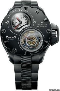 Zenith Defy Extreme Zero G Tourbillon - Black Titanium on Bracelet with Black Dial