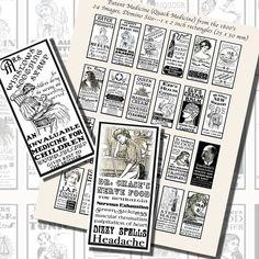 Images,Digital,Stickers,Collage,Illustration,domino,dominoes,quack,patent,medicine,advertisements,victorian