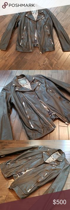 Diesel leather jacket size large Diesel leather jacket size large purchased from diesel store. Worn 1 time. No rips,odors or stains. 100% authentic Diesel Jackets & Coats