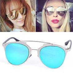 Wholesale Blue Thin Leg Metal Frame Design Alloy Women Sunglasses:Asujewelry.com