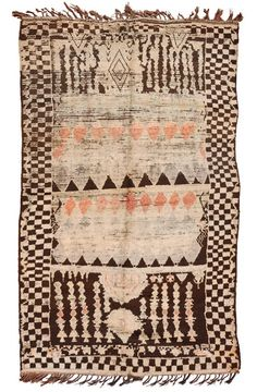Antique and Modern Moroccan and North African Rugs and Carpets - For Sale at Motifs Textiles, Textile Patterns, Textile Design, Carpet Tiles For Basement, Back To Nature, Deco Boheme, Berber Rug, Cool Rugs, Tribal Rug