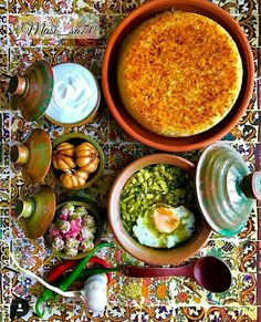 Have some local Iranian dish. Baghali Ghatogh (Lima beans with eggs and dill) Iranian Dishes, Iranian Cuisine, Iran Food, Eastern Cuisine, Food Decoration, Middle Eastern Recipes, Arabic Food, Food Design, Food Plating