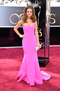 Maria Menounos Oscars strapless trumpet hot pink satin dress (scheduled via http://www.tailwindapp.com?utm_source=pinterest&utm_medium=twpin&utm_content=post86115343&utm_campaign=scheduler_attribution)