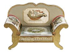 Antique Needlework Tools and Sewing: 90 Viennese Sewing Box in the Shape of a Sofa with Original Johann Nadler Shop Label Sewing Box, Sewing Tools, Sewing Notions, Antique Boxes, Craft Accessories, Mini Things, Barbie House, Pin Cushions, French Candy