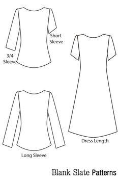 Shoreline Boatneck pdf sewing pattern by Blank Slate Patterns line drawing Shirt Dress Pattern, Dress Patterns, Paper Patterns, Sewing Patterns Free, Free Sewing, Pattern Sewing, Sewing Tips, Sewing Ideas, Sewing Projects