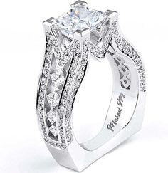 Michael M Princess Cut Diamond Engagement Ring