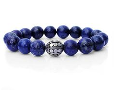 Men's Bracelet, For Men, Lapis Lazuli and Sterling Silver Bracelet. Bracelet for Men, Man's Bracelet, Mens Bracelet, Mans Bracelet, For Man