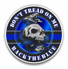 Don't Tread On Me Back the Blue Line Gadsden Flag Support Police Sticker for cars trucks for honor and Window Bumper 4 inch Police Stickers, Bumper Stickers, Motorcycle Trailer, Motorcycle Helmets, Dojo, Police Cars, Police Officer, Retirement Gifts For Men, Support Police