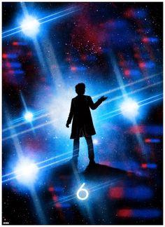 Cool Art: 'Doctor Who: Colin Baker' by Matt Ferguson Doctor Who Poster, Doctor Who Art, Bbc Doctor Who, 12th Doctor, Matt Smith, David Tennant, Science Fiction, Serie Doctor, Colin Baker