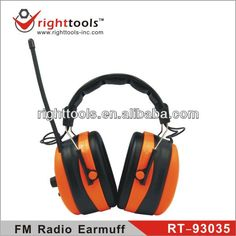 RIGHTTOOLS RT-93035 High quality adjustable FM Radio head wearing safety Earmuffs Ear Protection, Earmuffs, Headset, Safety, Headphones, Stuff To Buy, Security Guard, Headpieces, Headpieces