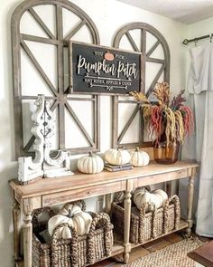 Rectangular Handled Baskets - rustic home decor pictures -Beachcomber Rectangular Handled Baskets - rustic home decor pictures - 32 Inspiring Farmhouse Fall Decor to Brighten Your Day Kathleen Barnes' Orange County Home Tour Oengus Accent Mirror Diy Home Decor Rustic, Easy Home Decor, Country Decor, Country Lounge, Rustic Home Design, Country Furniture, Farmhouse Side Table, Vintage Farmhouse, Modern Farmhouse