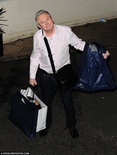Relaxed: Judge Louis Walsh was the other panelist without an act in the competition and prepared to watch the others in the finals
