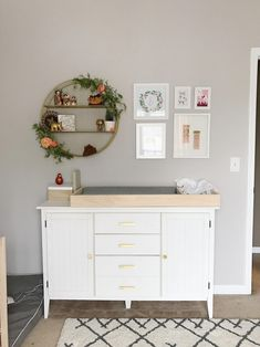 38 Ideas For Baby Girl Bedroom Themes Nurseries Changing Tables Baby Bedroom, Baby Boy Rooms, Nursery Room, Girl Nursery, Girls Bedroom, Girl Rooms, Nursery Wall Decor, Baby Room Neutral, Nursery Neutral