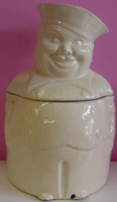 Vintage Sailor Cookie Jar $85.00/Kitchenalia at Jazz'e Junque in Chicago ~ www.jazzejunque.com