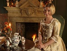 Historic Royal Palaces' Curator Dr Lucy Worsley at work in her office on 13 June 2012.