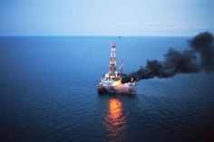 {An oil drilling rig burning off natural gas.}Big Oil's Big Lies About Alternative EnergyAs President Obama calls for greater investments in alternatives, the biggest energy companies are doubling down on riskier, more destructive oil sources