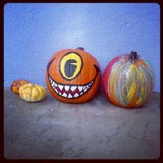 Painted pumpkins 2013