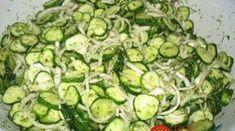 Uhorkový šalát na chudnutie: Chutí výborne a je vhodný aj pre cukrovkárov a každého, kto má problémy s trávením! Ketogenic Recipes, Keto Recipes, Cooking Recipes, Good Food, Yummy Food, Russian Recipes, Kefir, Cucumber, Zucchini
