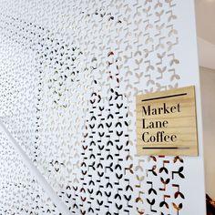 Tukk & Co. Lasercut Logo Wall / coffee brand advertising