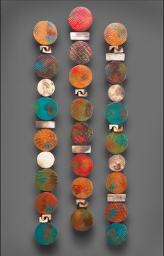 Circle Stick in Teals and Red: Rhonda Cearlock: Ceramic Wall ArtCeramic wall sculptures bring vivid beauty of porcelain, stoneware, and earthenware clay to your walls in three dimensions.Five Wall Pieces - Light by Kelly Jean Ohl (Ceramic Wall Sculpture)E Ceramic Wall Art, Wood Wall Art, Framed Wall Art, Ceramic Pottery, Slab Pottery, Ceramic Plates, Wall Sculptures, Sculpture Art, Ceramic Sculptures