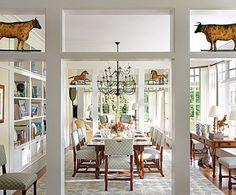Candice Bergen's  East Hampton  Dining Room