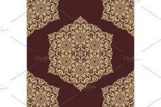 Damask Patterns, Golden Color, Arabesque, Vector Pattern, Abstract Backgrounds, Oriental, Floral, Flowers, Flower