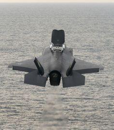 F-35B Lightning II makes a vertical takeoff
