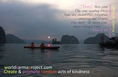 "Yes, you The one reading this. You are beautiful, talented, amazing and simply the best at being you. Never forget that."" unknown PASS IT ON Ha Long Bay, Seven Wonders, You Are Beautiful, Natural Wonders, Vietnam, Exotic, Good Things, Adventure, Feelings"