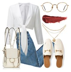 """""""#563"""" by mora-143 ❤ liked on Polyvore featuring Gucci, Chloé, GlassesUSA and By Terry"""