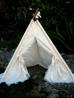 lace ruffle teepee tent photo prop by SugarShacksTeepee on Etsy, $40.00
