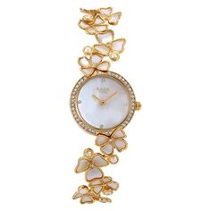 Titan Raga Moonlight MOP Dial with Floral Strap Analog Watch for Women-95030YM01J