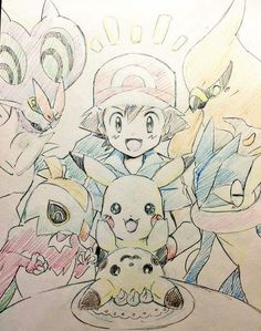 Ash Ketchum and Pikachu with their Kalos Pokémon Team ^.^ ♡ I give good credit…