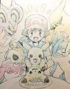 Ash Ketchum and Pikachu with their Kalos Pokémon Team ^.^ ♡ I give good credit…