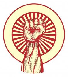 Illustration about Soviet cold war propaganda poster style revolution fist raised in the air. Illustration of image, revolution, illustration - 17771814 Cold War Propaganda, Propaganda Art, Ww2 Posters, Political Posters, Fist Tattoo, Tattoo Art, Soviet Art, Tattoo Project, Hand Art