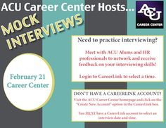 Due to the inclement weather last Friday, February 7, the Mock Interviews have been rescheduled to Friday, February 21.