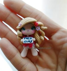 1 Free Hugs doll chibi necklace inspired