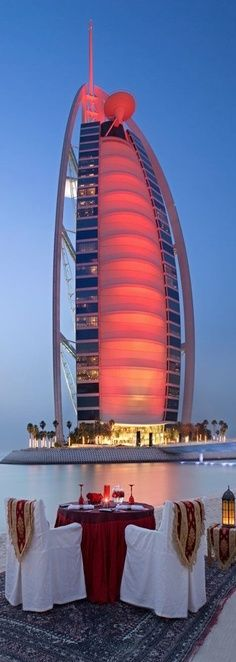 Dinner For Two By The Burj Al Arab Hotel Dubai - Explore the World with Travel Nerd Nici, one Country at a Time. http://TravelNerdNici.com