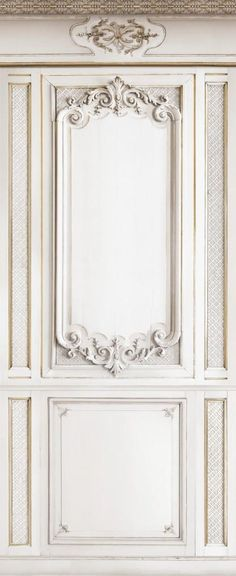 Beige Decorative Haussmann Wainscot Wallpaper | New Orleans