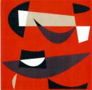 Untitled Nonobjective Print by Jean Rets. Serigraph, 1956.