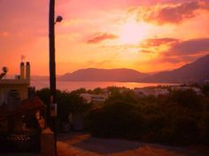 Sunset over Pefkos...Hell yeah baby!!!! 20 days and were there