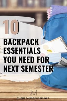 10 Backpack Essentials Every College Student Must Have - The Metamorphosis College Freshman Tips, First Year Of College, Going Back To College, College School Supplies, Scholarships For College, College Students, College Hacks, Espn College, College Football