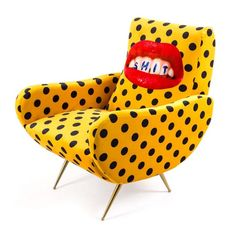 Shop the Seletti Wears Toiletpaper 'Shit' Armchair. This unique armchair aptly summarises the collaboration between Seletti and Toiletpaper Magazine. Steel Furniture, Furniture Sale, Discount Furniture, Furniture Design, Velvet Furniture, Furniture Buyers, Kids Furniture, Italian Furniture Brands, Luxury Furniture Brands
